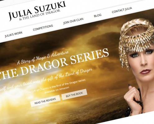 julia suzuki author website design