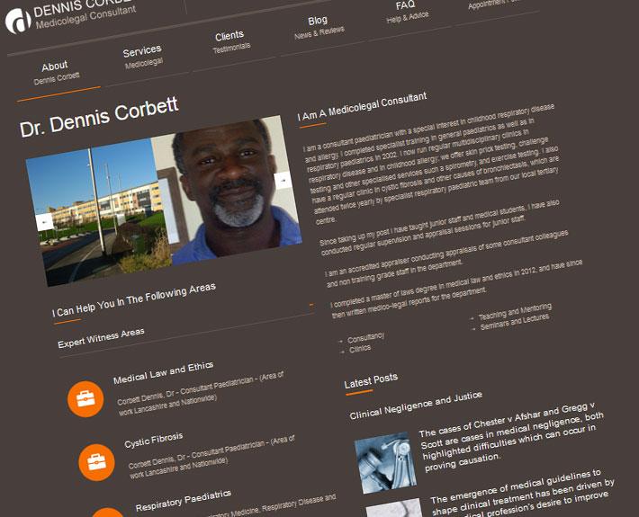 dr dennis corbett websites for consultants