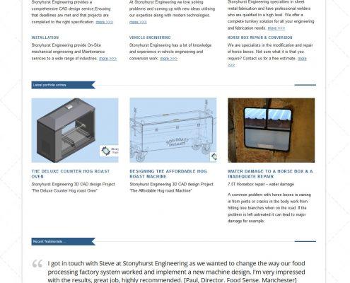 Stonyhurst Engineering website